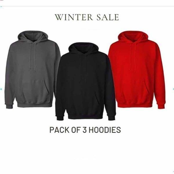 Super Bazar Pack of 3 kangaro hoodie