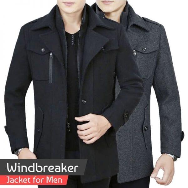 Cotton Windbreaker Jacket for Men For mens