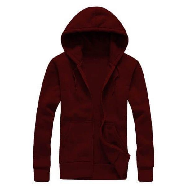 Maroon Zipper hoodie