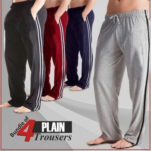 Pack of 4 Plain trouser