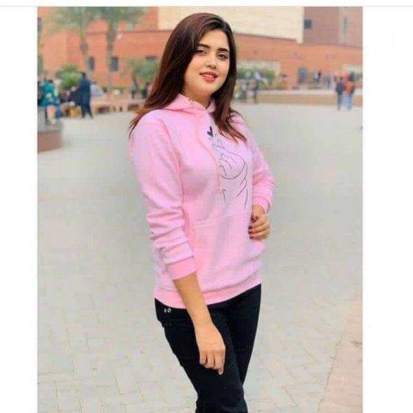 Super Bazar pink hoodie 1