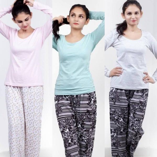 Super bazar plain T shirt pajama