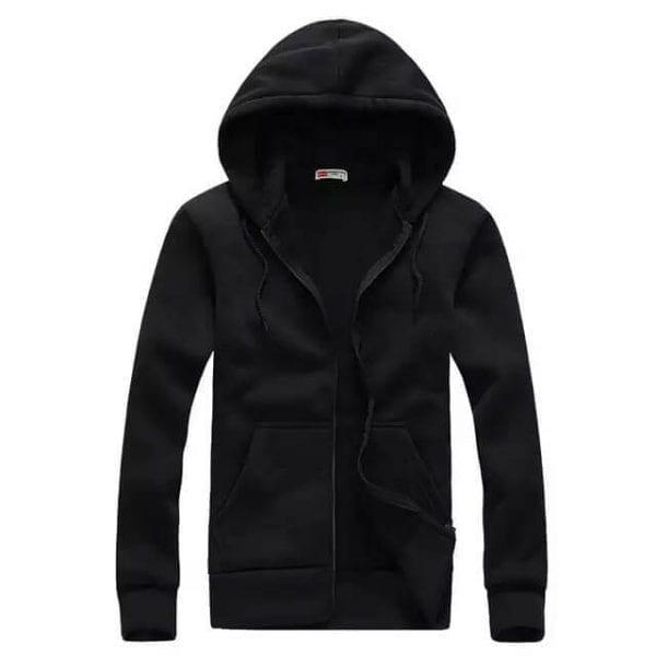Zipper Hoodie Super Bazar black