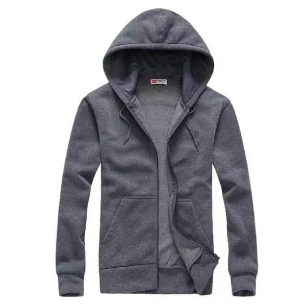 Zipper hoodie Charcoal