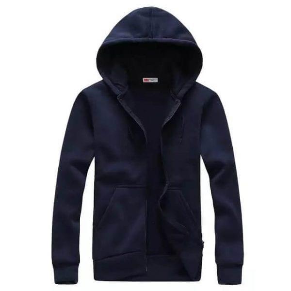 Zipper hoodie navy