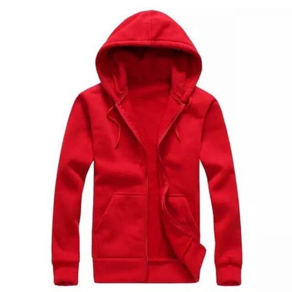 Zipper hoodie red