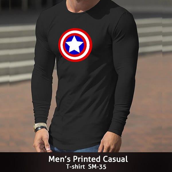 Mens Printed Casual T shirt SM 35 600x600 1