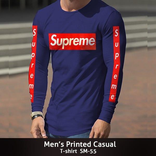Mens Printed Casual T shirt SM 55 600x600 1