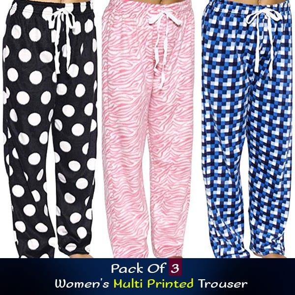 Pack Of 3 Womens Multi Printed Trouser 600x600 1