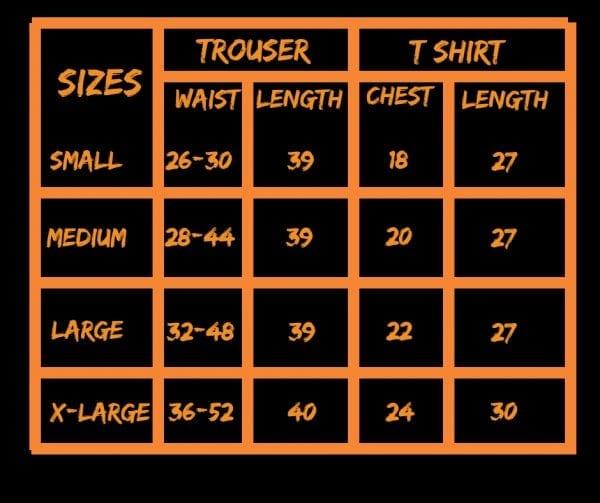 Super bazar size chart
