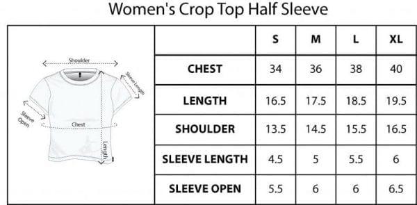 Size chart Crop T-Shirt