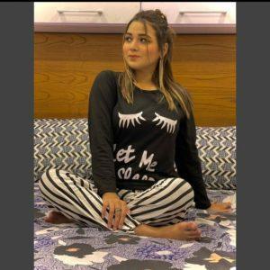Black Let Me Sleep Full Nigt Suit ( best online shopping website in pakistan )